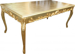 Casa Padrino Baroque Gold dining table 200 x 99 cm Mod2 - dining table - furniture antique style