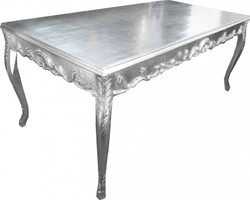 Casa Padrino Baroque Silver dining table 200 x 99 cm Mod2 - dining table - furniture antique style