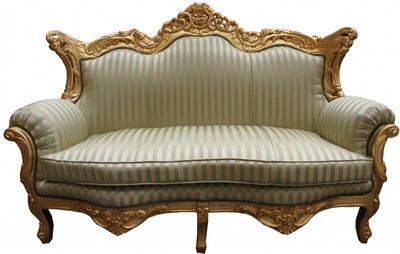 casa padrino barock 2er sofa master jadegr n beige gold wohnzimmer couch m bel lounge sofas. Black Bedroom Furniture Sets. Home Design Ideas