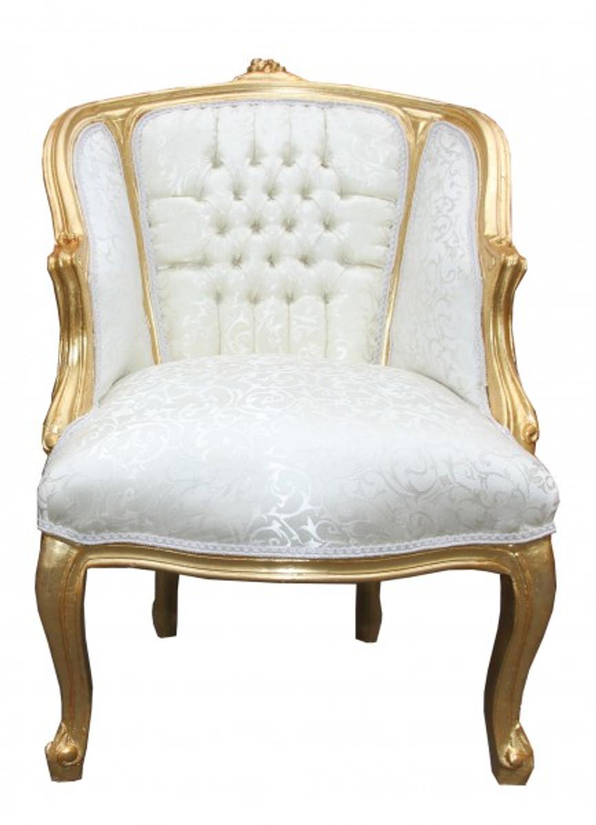 casa padrino barock salon sessel wei gold cocktailsessel sessel salon sessel. Black Bedroom Furniture Sets. Home Design Ideas