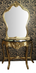 Casa Padrino Baroque mirror gold console with marble top