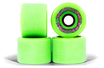 Mindless Voodoo Longboard Wheel Set (4 Rollen) Maji Green 70mm / 78A - Cruiser Skateboard Rollen - Wheels – Bild 1