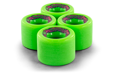 Mindless Voodoo Longboard Wheel Set (4 Rollen) Maji Green 70mm / 78A - Cruiser Skateboard Rollen - Wheels – Bild 2
