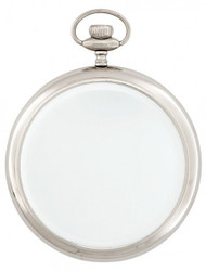 Casa Padrino luxury wall mirror clock nickel plated heavy model 28 x 36 cm