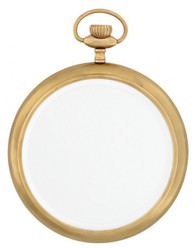 Casa Padrino luxury wall mirror clock antique brass heavy version 28 x 36 cm