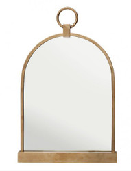 Casa Padrino luxury table mirror vanity mirror - dressing table mirror antique brass color 57 x 36 cm