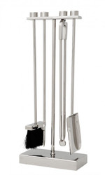 Casa Padrino Luxury Fireplace Tools - Stainless steel nickel plated - pure luxury!