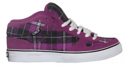 Circa Skateboard Schuhe 8 Track Purple/White/ Black Plaid Sneakers Shoes – Bild 1