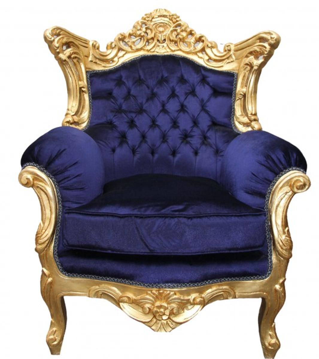 casa padrino barock wohnzimmer set royal blau gold 3er sofa 2er sofa 1 sessel casa padrino. Black Bedroom Furniture Sets. Home Design Ideas