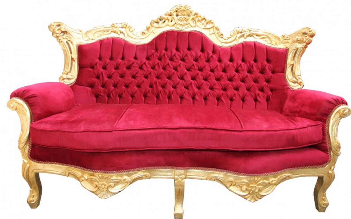casa padrino barock wohnzimmer set bordeaux gold 3er sofa 2er sofa 1 sessel casa padrino. Black Bedroom Furniture Sets. Home Design Ideas