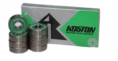 Koston Titanium Skateboard Kugellager Set (8 Kugellager) Silver