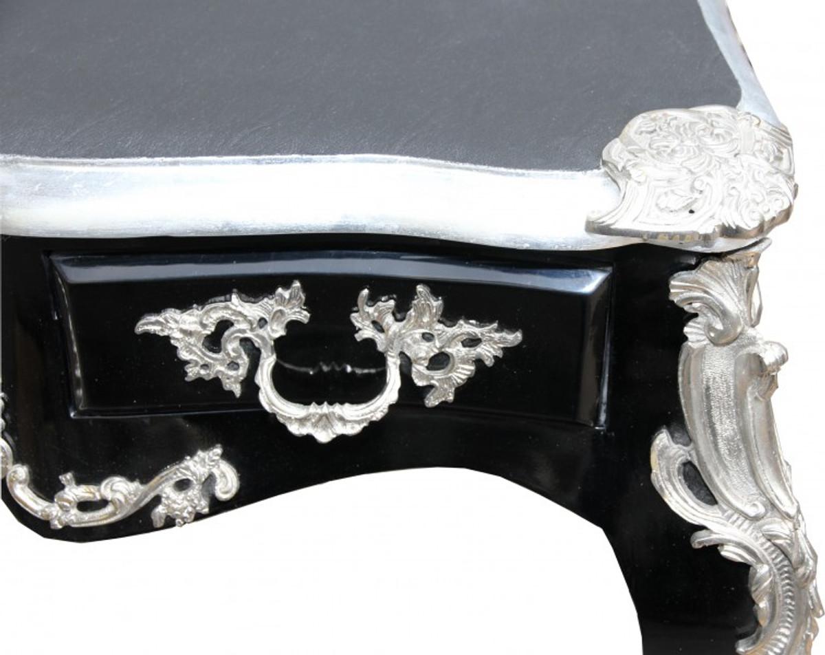 Casa Padrino Luxury Baroque Desk Black Silver Secretary