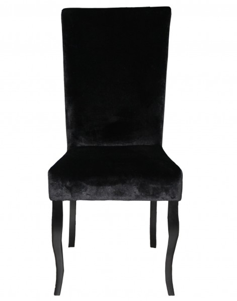 Casa padrino dining chair black black without armrest for Baroque furniture usa