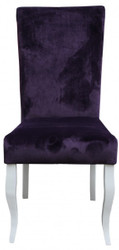 Casa Padrino Dining Chair Purple/White  without armrest - Baroque Furniture
