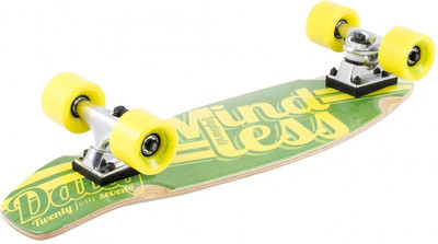 Mindless Stained Daily Oldschool Skateboard Wood Cruiser Komplettboard Green / Yellow - Old School Complete Skateboard mit Koston Kugellagern – Bild 2