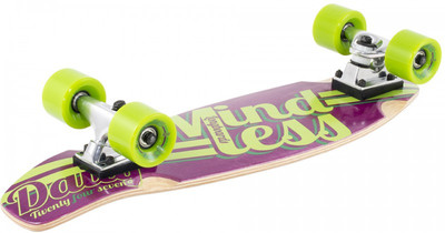 Mindless Stained Daily Oldschool Skateboard Wood Cruiser Purple / Green - Old School Complete Skateboard – Bild 2