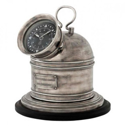Designer Luxury Clock Compass Henry Lloyd Collection Altik silver-look-precious & Sumptuously - Table Clock