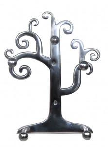 Casa Padrino Designer Wandschlüssel und Halsketten Halter aus Aluminium, Höhe 29 cm, Breite 24 cm - Schlüsselhalter Wandschlüsselanhänger