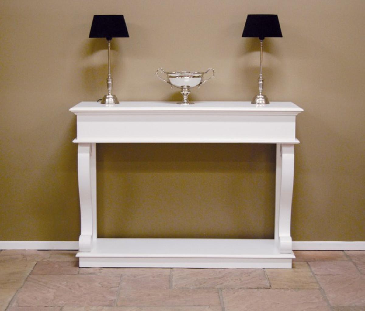 casa padrino barock konsole weiss konsolentisch. Black Bedroom Furniture Sets. Home Design Ideas