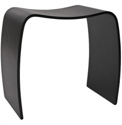 Casa Padrino Design stool wood Black Wave - Lounge Club furniture
