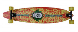 "Koston Pintail Freeride Longboard Hawaii Skull 9.75 x 42"" Cruiser - High End Profi Longboard"