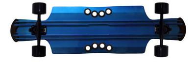 Beercan Longboard Cruiser Complete Board Kegger Lite 40 Blue - Aluminium Skateboard Longboard – Bild 1
