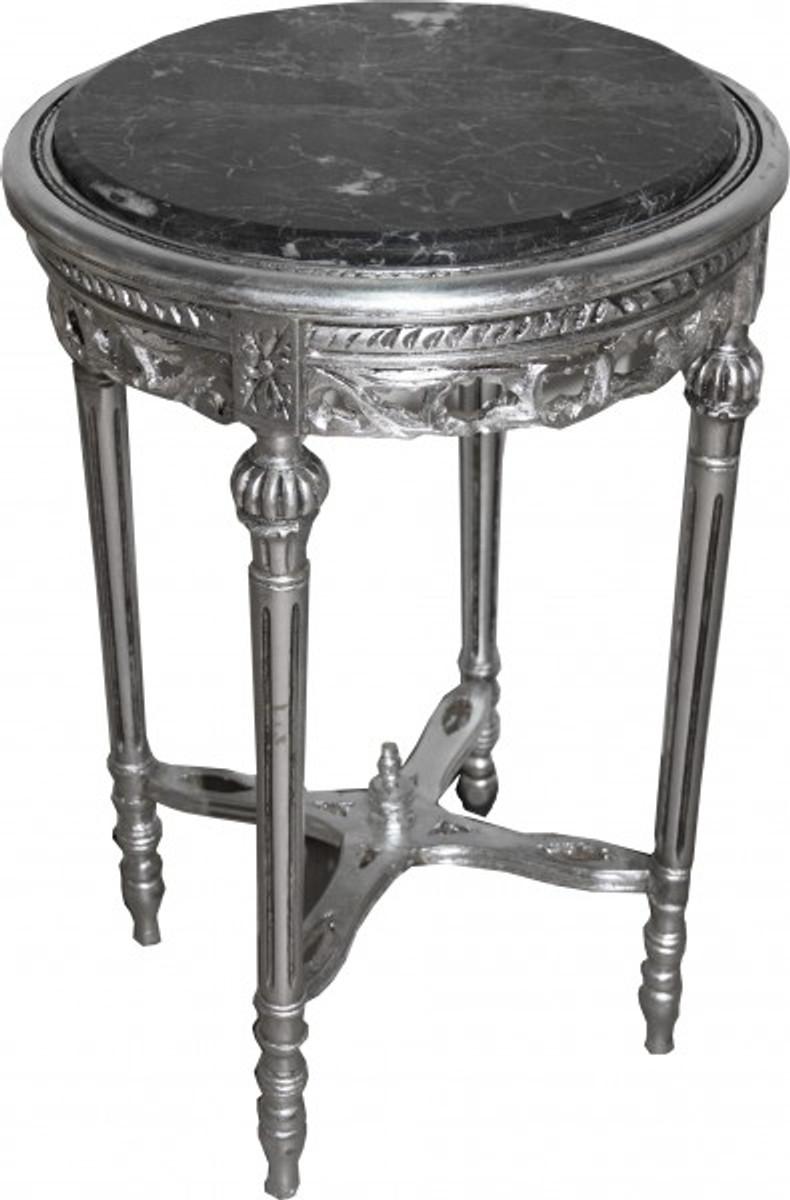 barock beistelltisch rund silber mody12 73 x 47 cm antik stil beistelltische barock beistelltische. Black Bedroom Furniture Sets. Home Design Ideas