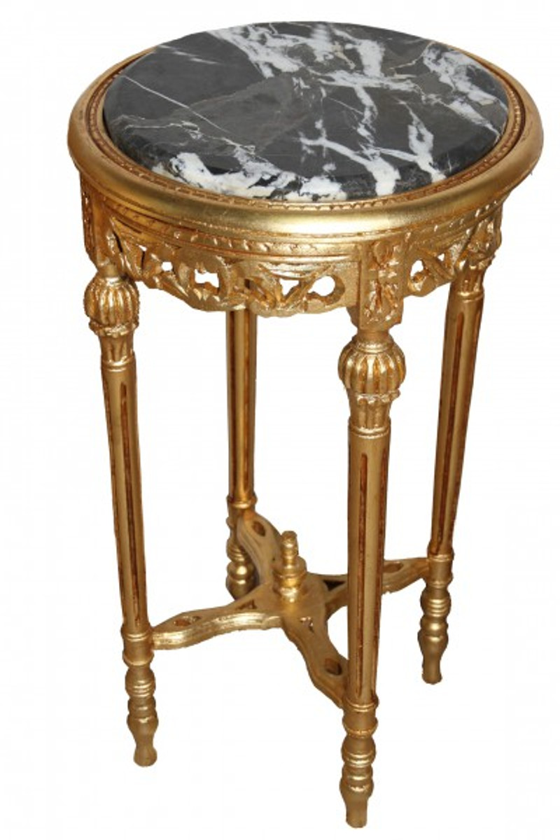 Picture of: Baroque Side Table Gold Round Mody17 73 X 38 Cm Antique Style