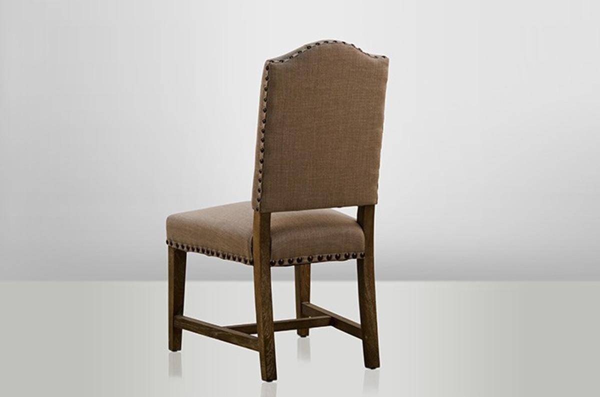 rustikaler eichen stuhl aus dem hause casa padrino bezug beige holz eiche massiv schloss. Black Bedroom Furniture Sets. Home Design Ideas
