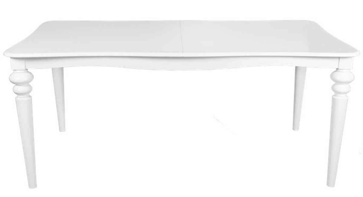 Esstisch weiß holz  Casa Padrino Barock Esstisch Weiss ausziehbar 180 - 230 cm - Tisch ...