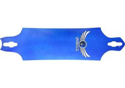 Dregs Uptown Push BLUE Longboard Deck 40 x 8.5 - Drop Through Cruiser Deck - Medium Flex