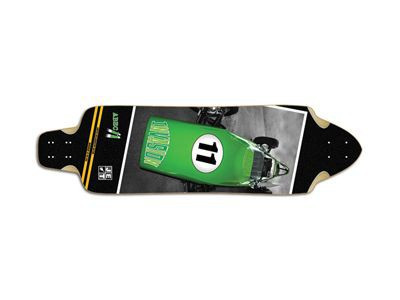 Invasion by JET Faction CarEleven Longboard Deck 10.3 x 37.5 inch - Cruiser Longboard Deck