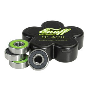 Enuff Bearing Set BLACK BEARINGS - High End - Profi Skateboard Kugellager Set (8 Kugellager) - Skateboard / Longboard Kugellager – Bild 1