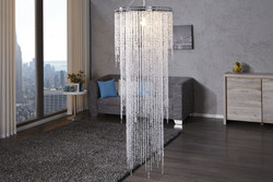 Casa Padrino hanging lamp Bling Bling 150 x 55 cm - light bulb - Long Ceiling Lamp