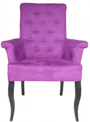 Casa Padrino Dinner Chair Purple / Black Baroque Furnitur