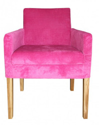 Casa Padrino Dining Chair Pink / wood colored with armrest