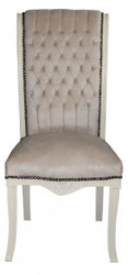 Casa Padrino Baroque high-backed dining chair cream - high-back chair furniture Baroque Furniture
