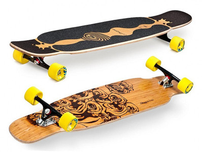 Loaded Longboard Cruiser Komplettboard Bhangra Flex 1 - 48.5 x 9.5 inch Komplett - Special Edition mit Koston Kugellagern