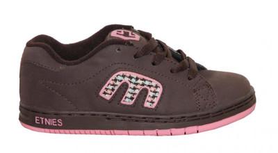 Etnies Skateboard Kids Schuhe Callicut Brown/Pink – Bild 1