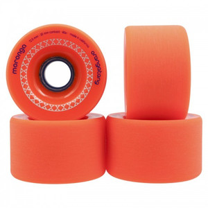 Orangetang Longboard Profi Wheels Moronga 72mm / 80a Orange - Longboard Cruiser Wheel Set (4 Rollen)