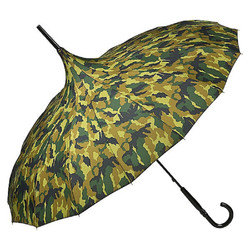 MySchirm Designer Umbrella Pagoda camouflage Model Paris - Art Nouveau design - Elegant umbrella