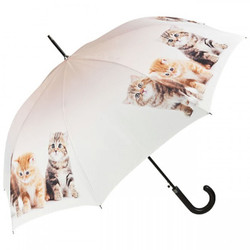 Designer umbrella motif umbrella with kittens - Elegant umbrella - Luxury Design - Automatic Umbrella