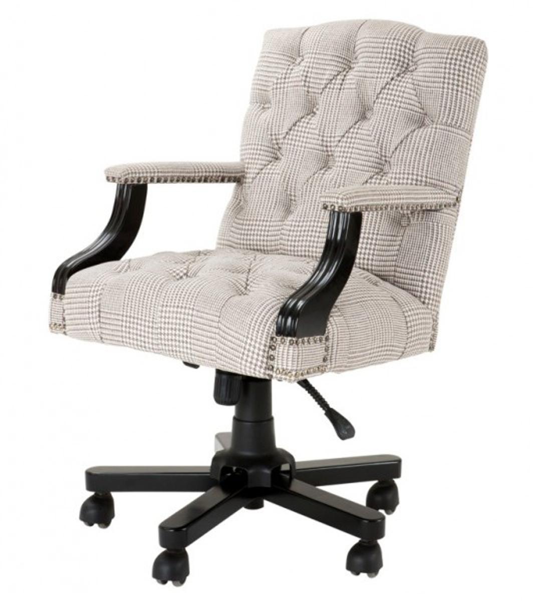 Chef Stuhl Drehstuhl Schreibtisch Büro Creme Braun Luxus j3L4Aq5R