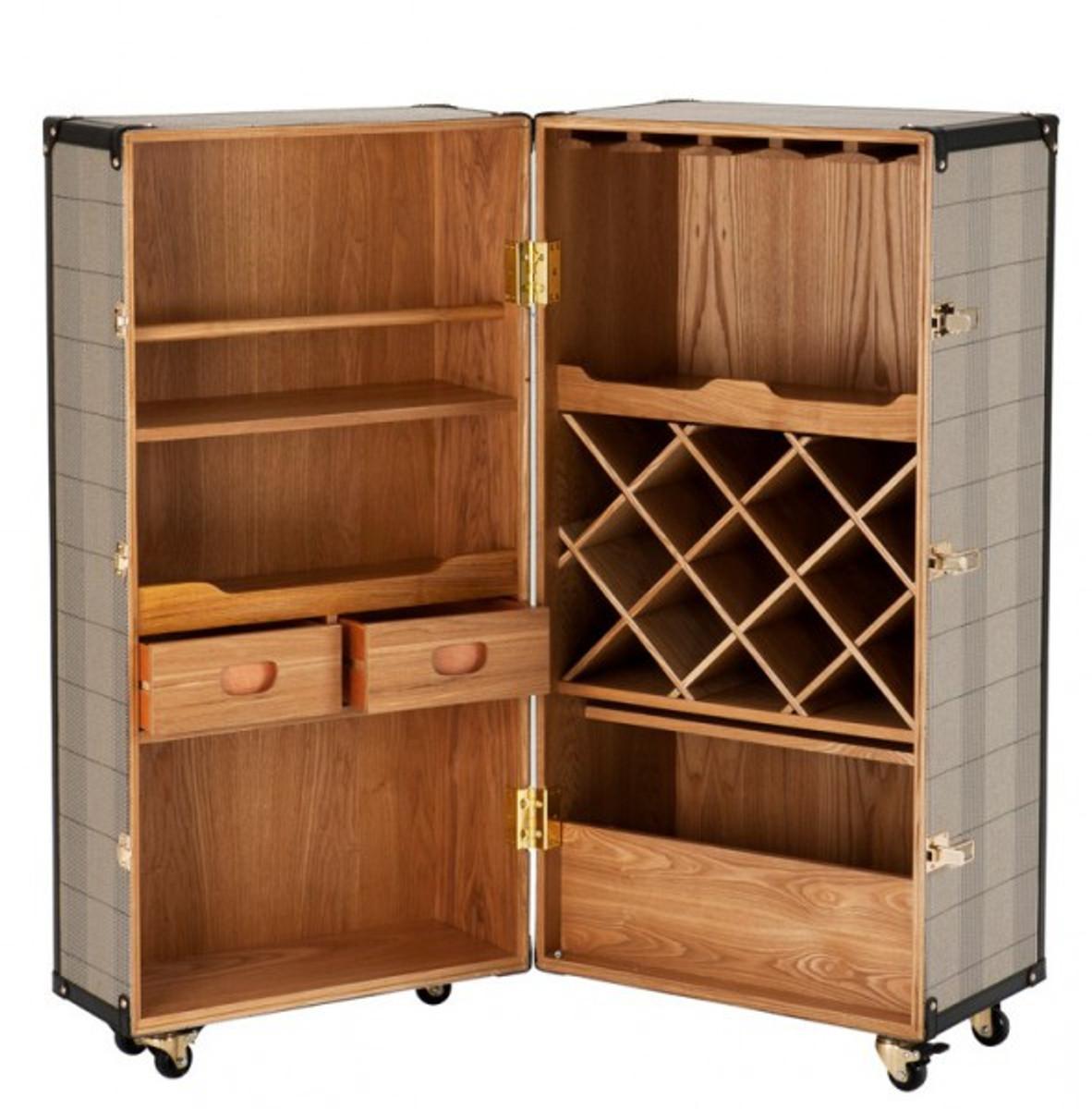 casa padrino luxus bar schrank im vintage koffer design kommode art deco barock jugendstil. Black Bedroom Furniture Sets. Home Design Ideas