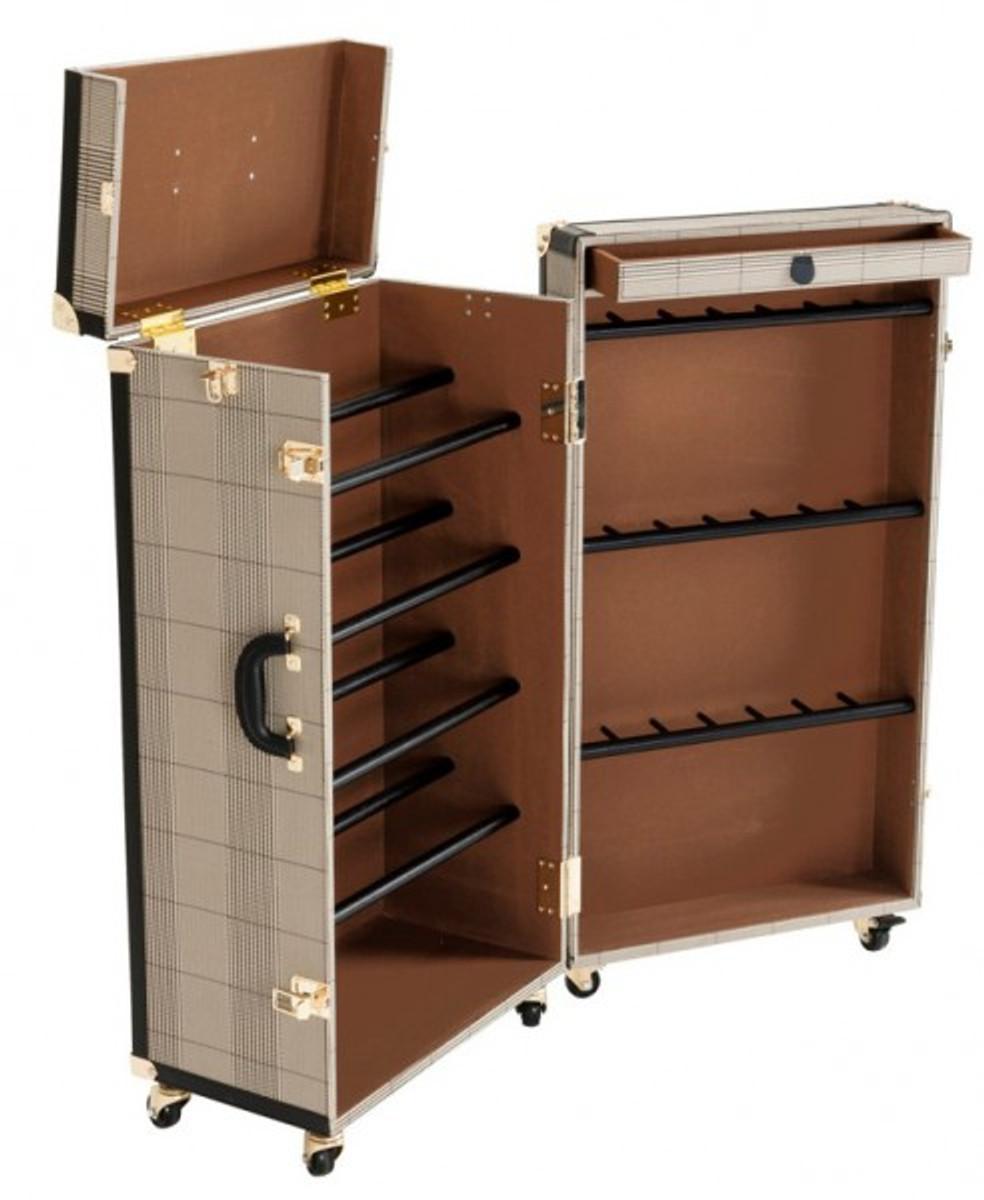 casa padrino luxus schuh schrank im vintage koffer design kommode art deco barock jugendstil. Black Bedroom Furniture Sets. Home Design Ideas