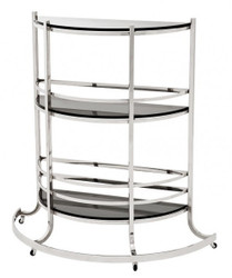 Casa Padrino Luxury Bar Trolley Trolley made ​​of stainless steel and glass 95 x 42.5 x H. 100 cm - Luxury Hotel & Restaurant Furniture