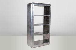Casa Padrino Luxury Designer Aviator bookcase Bookcase aluminum airplane wing - Art Deco Vintage Shelf Cabinet