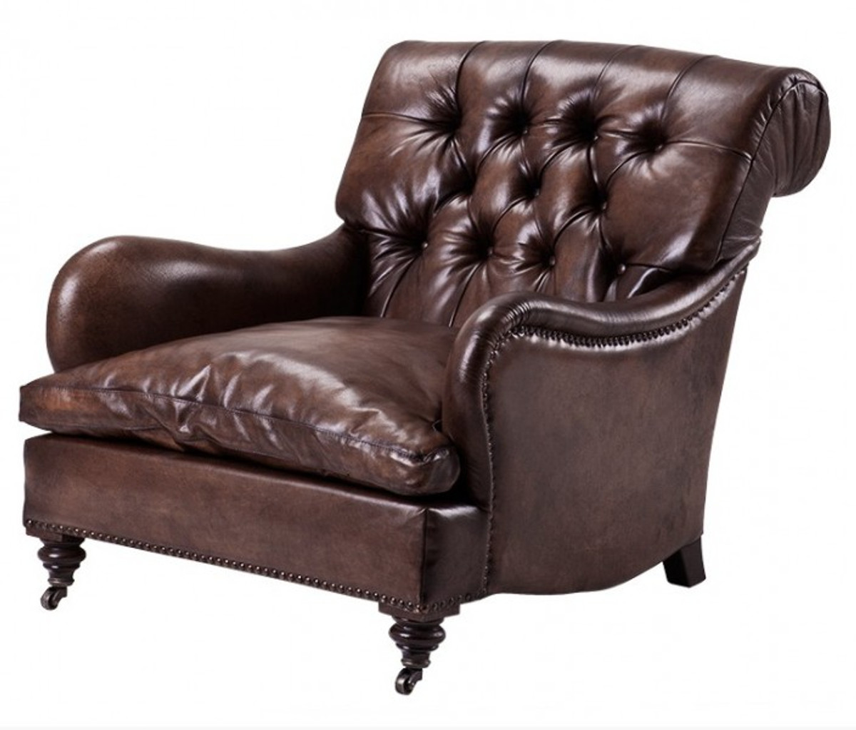 chesterfield luxury real leather wing chair new york. Black Bedroom Furniture Sets. Home Design Ideas