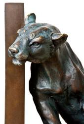 Casa Padrino luxury Bookends Set lions bronze / brass - Bookend - Book End Lions bookend 3