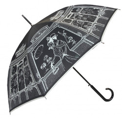 Guy De Jean designer luxury boutique in Paris Mod1 black umbrella - umbrella - Elegant and Extravagant - Made in Paris
